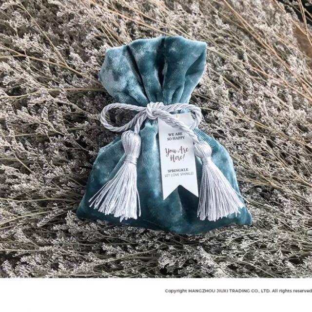 手做婚禮小物/糖果袋禮物袋綁繩小物袋