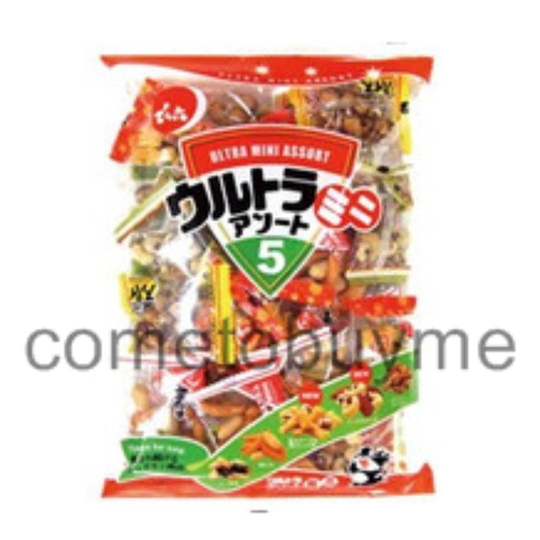 日本天六 傳六 綜合迷你豆菓子 什錦豆果子 米果 米菓 花生柿餅 花生辣味 海苔 小魚乾 下酒菜