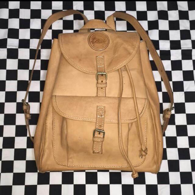 古著 古董包 vintage 真皮  原皮老包 後背包