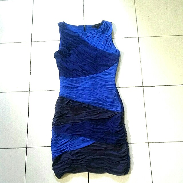 👗 Dress BCBG MAXAZRIA Blue Slim Fit