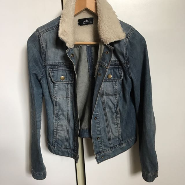 ** PRICE DROP ** Denim jacket wool lining