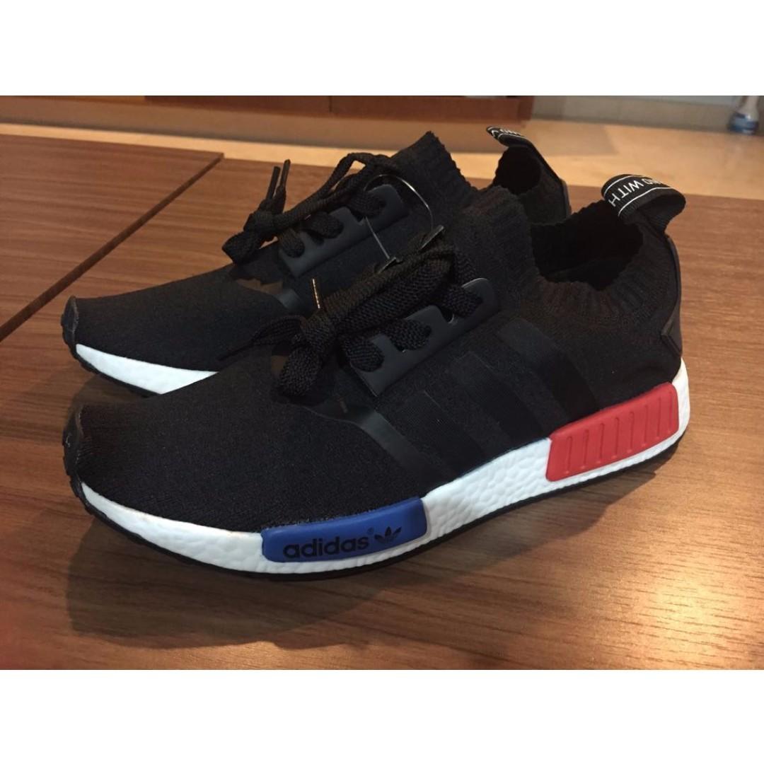 cf895866c Adidas NMD R1 OG Primeknit Black Red Blue