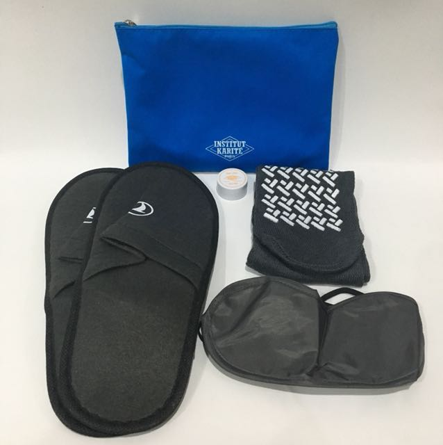 Amenity Kit Institut Karite by Turkish Airlines colour Blue
