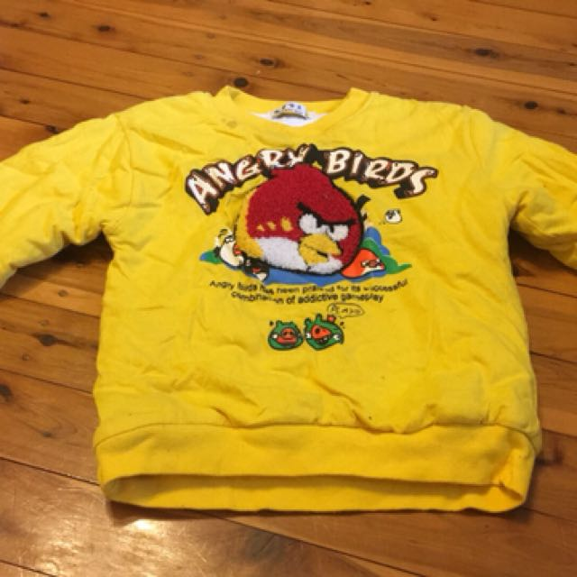 Angry birds jumper to fit 1-2 yo