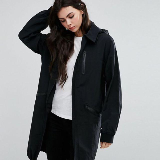 ASOS Black Rain Coat