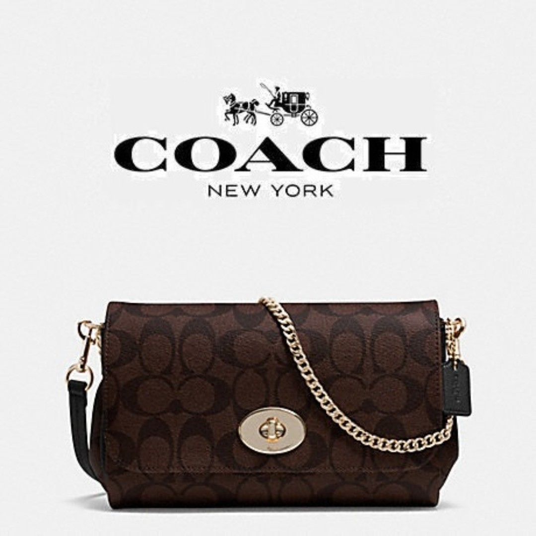 62da5710b4896 AUTHENTIC COACH f34615 2Way MINI RUBY CROSSBODY IN SIGNATURE CANVAS  PINK/BROWN, Women's Fashion, Bags & Wallets on Carousell