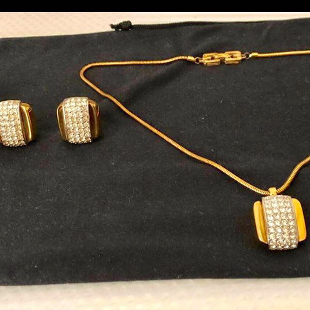 Authentic Givenchy New York Set Necklace & Earrings