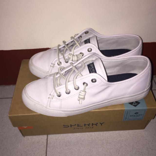 AUTHENTIC SPERRY TOP-SIDER WHITE SHOES