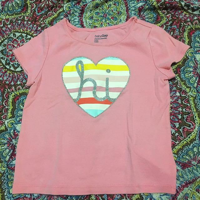 Baby Gap Pink Shirt 3 yrs
