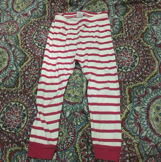 Baby Gap Pink Stripes Sleep pants 2T