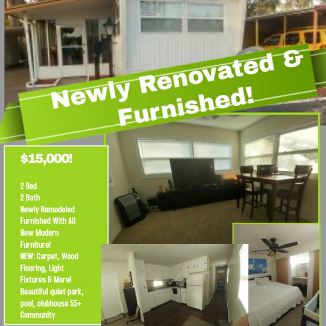 Beautiful newly renovated & Furnished new modern Mobile home