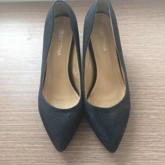 Black Glittery High Heels