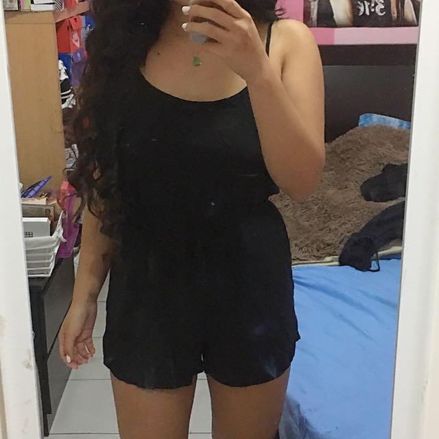 Black singlet Jumpsuit/playsuit