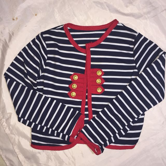 BLUE STRIPES CARDIGAN