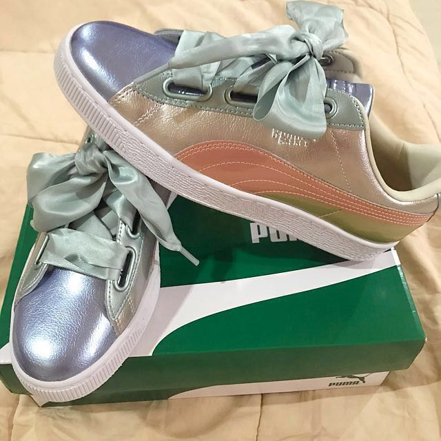 online store be23e 0b312 BN Puma Basket Heart Bauble, Women's Fashion, Shoes on Carousell