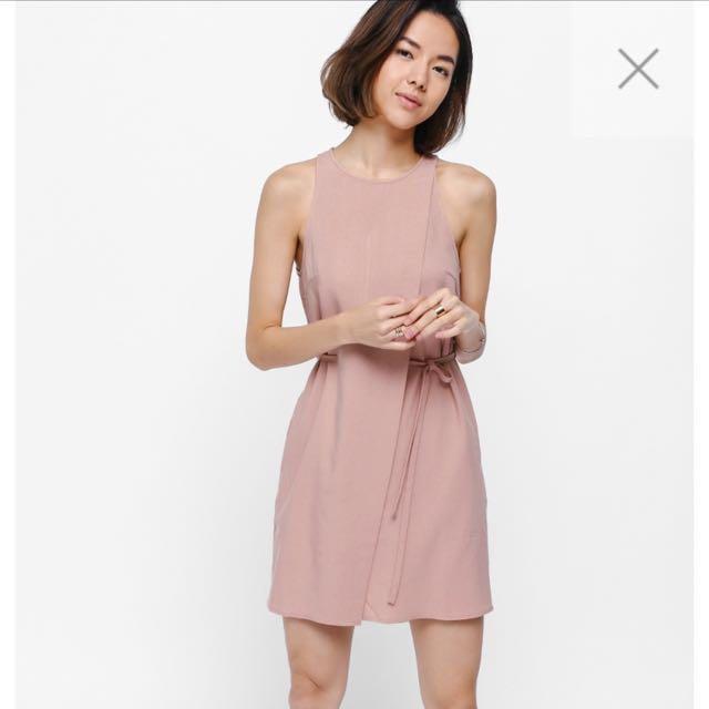 e1ac5d04743 BNWT Love Bonito Jayde Textured Foldover Dress in Pink