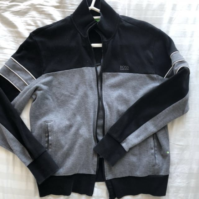 BOSS Green black zip up