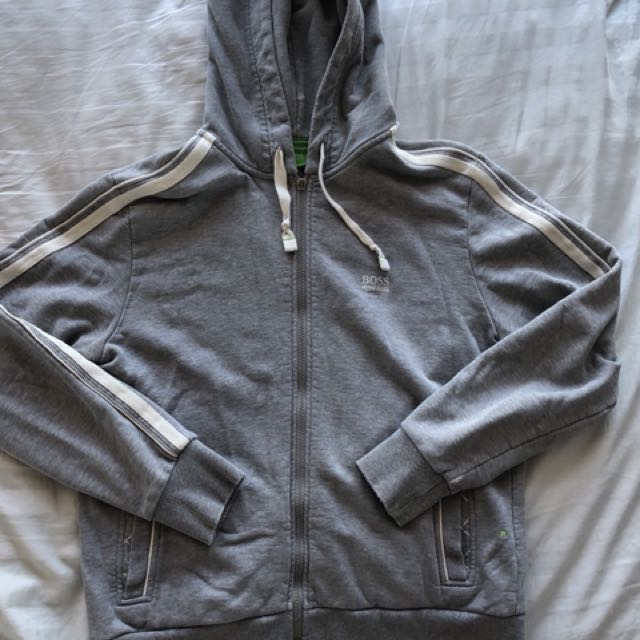 BOSS Green label grey hoodie