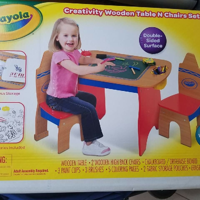 Crayola Creativity Wooden Table And Chairs Set Modern Coffee  sc 1 st  Modern Coffee Tables and Accent Tables & Crayola Creativity Wooden Table And Chairs Set | Modern Coffee ...