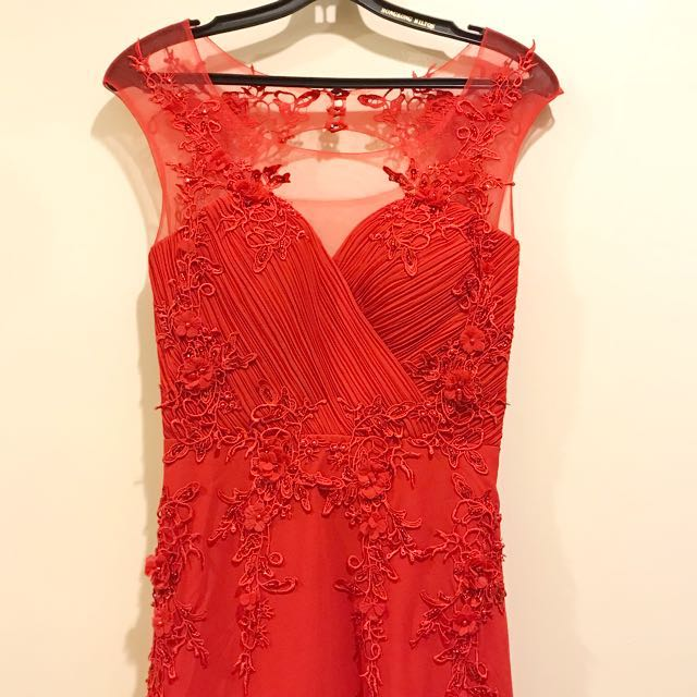 Brand New Red Floral Maxi Dress
