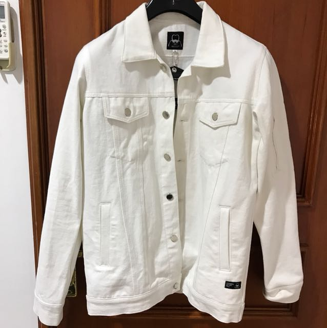 Brey Co White Jeans Jacket