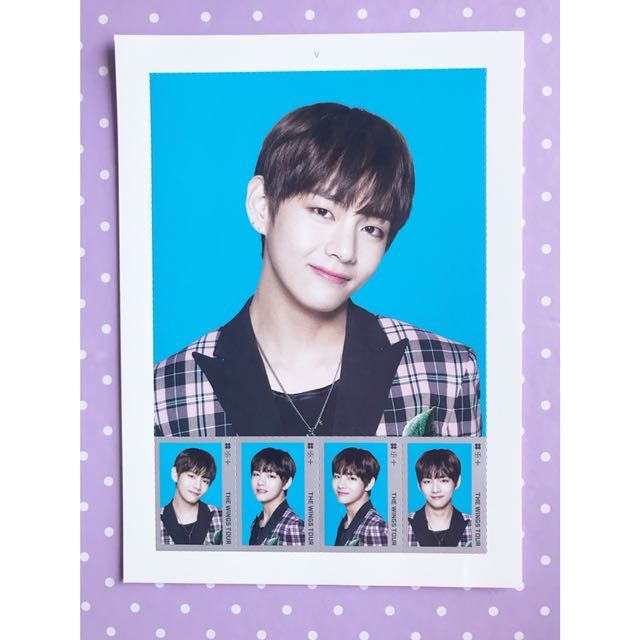 BTS 'Wings Tour' V Stamp Seal Set