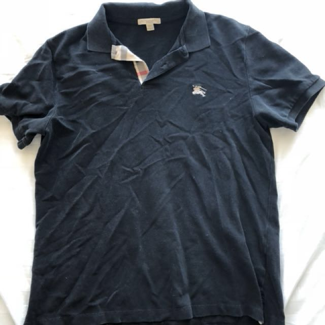 Burberry black polo