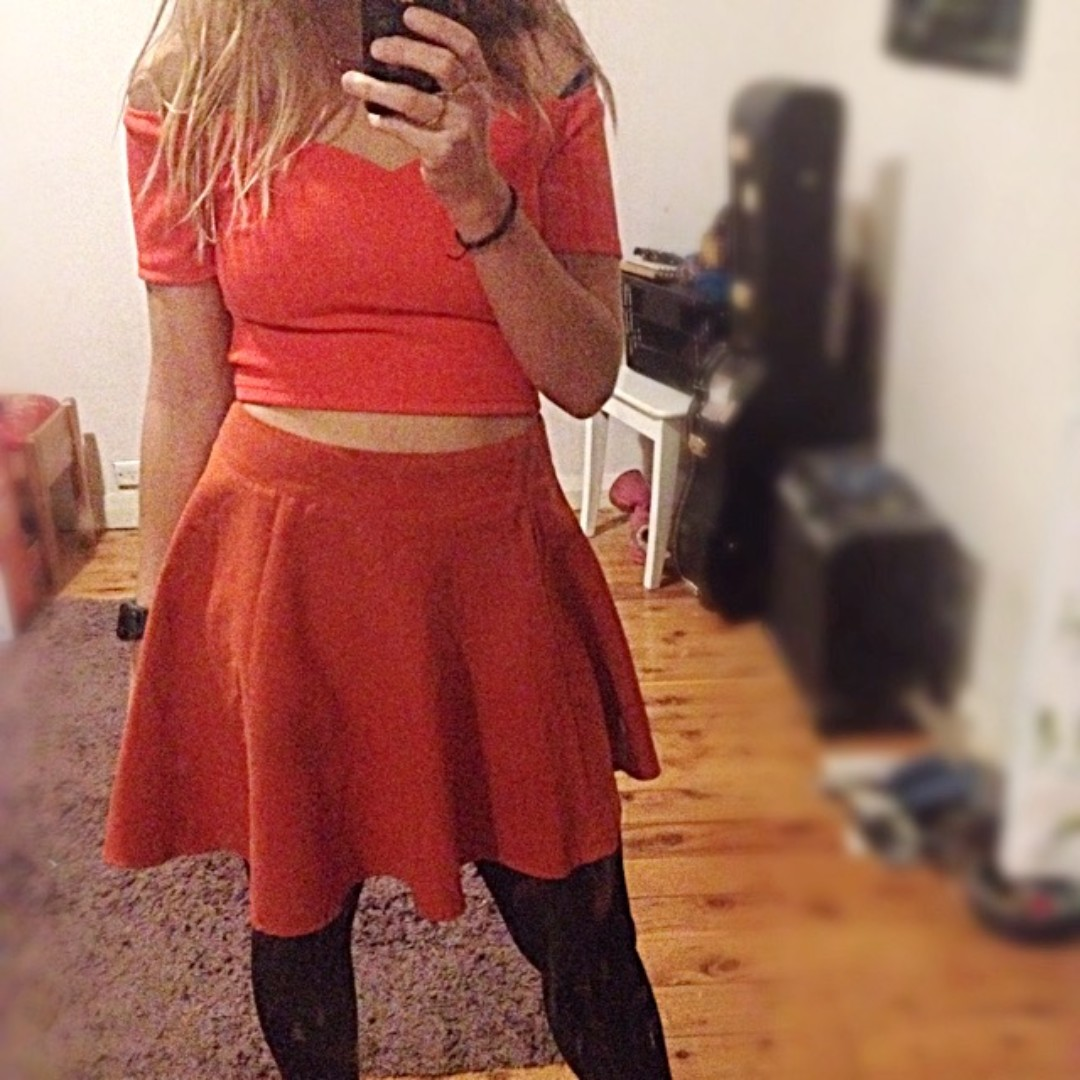 Burnt Orange Skirt