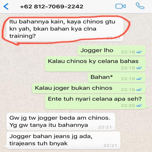 Buyer CLBK Chat Lama Beli Kaga