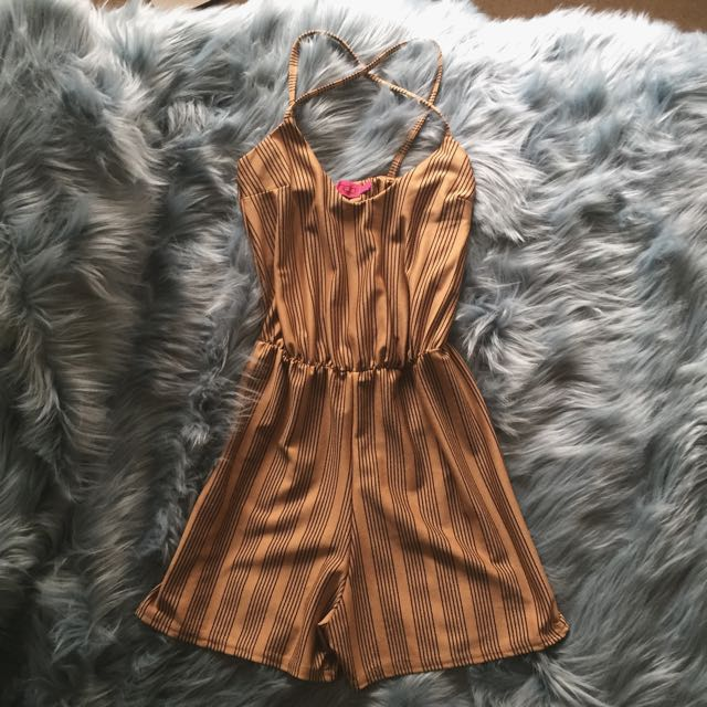 Camel Tan Playsuit
