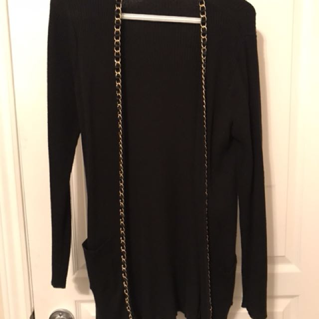 Cardigan with Gold Detail