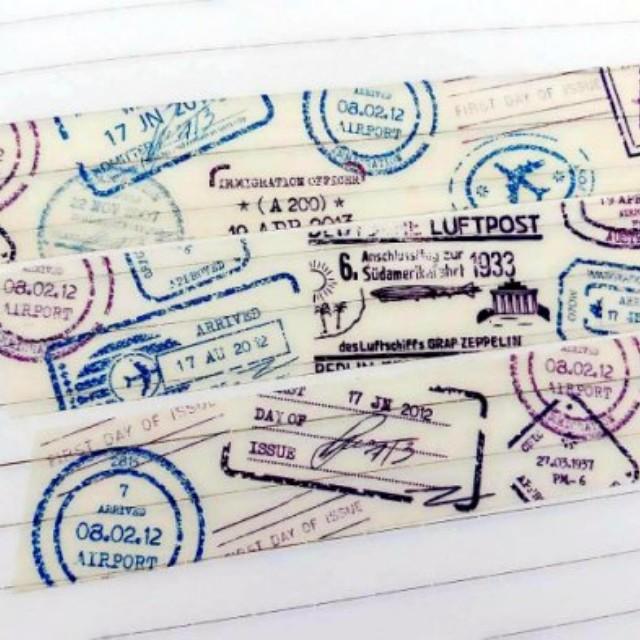 Celia 。 風中小舖 紙膠帶分裝 旅遊 郵戳