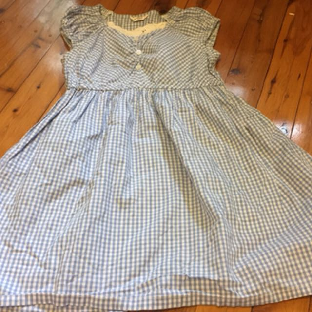 Checked dress to fit 5-6 yo girl