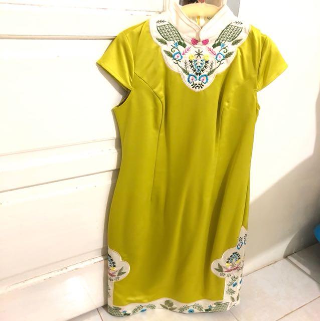 Cheongsam qipao dress bordir embroidery coco kellen stabilo