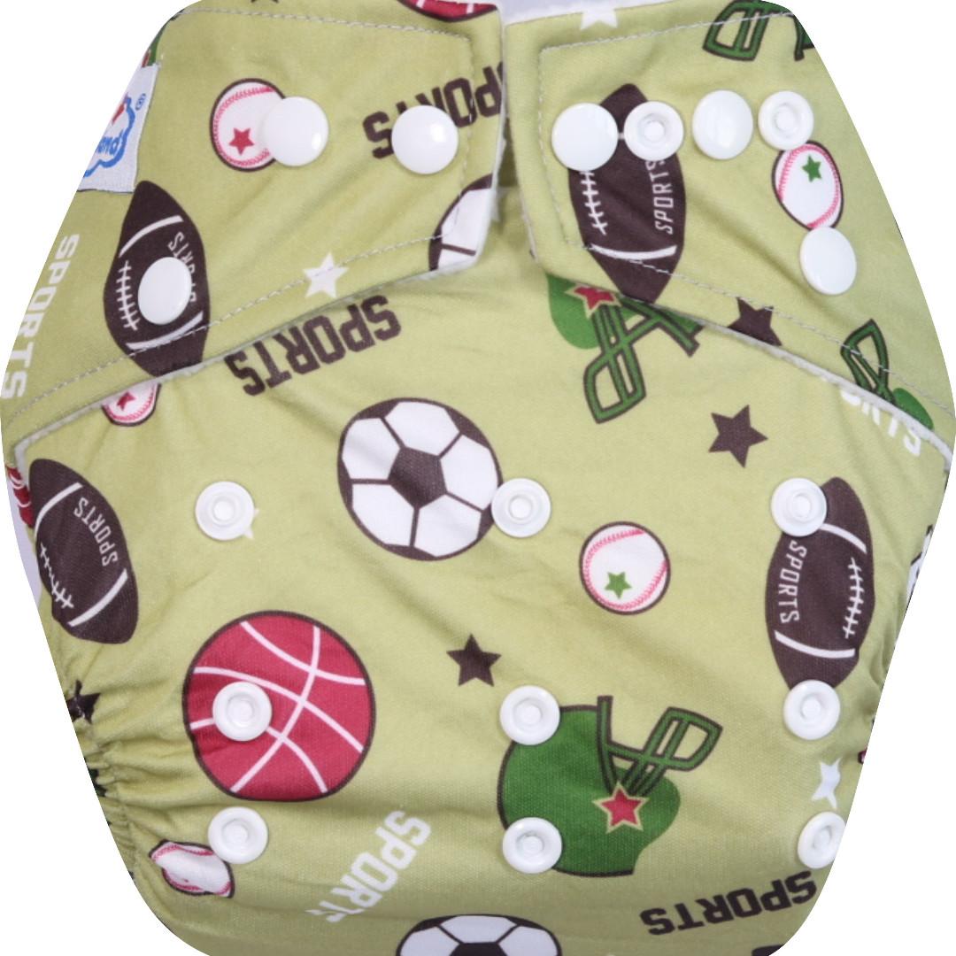 Babyland New Pocket Double Insert Microfiber Candy Clodi Popok Bayi Kain Snap Cloth Diaper Pink Tree 2 3 Lapis Hummingbird