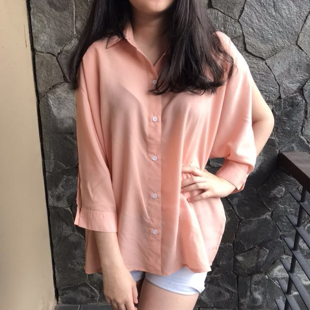 Cottonink Pink Cutout Shirt
