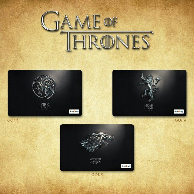 Custom E-money Flazz dan Brizzi card design Game of Thrones 2