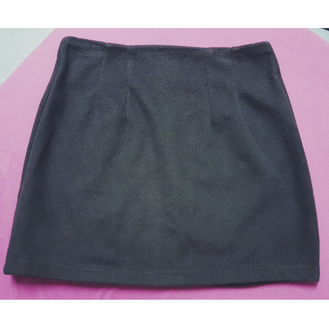 Dark Gray Mini Skirt