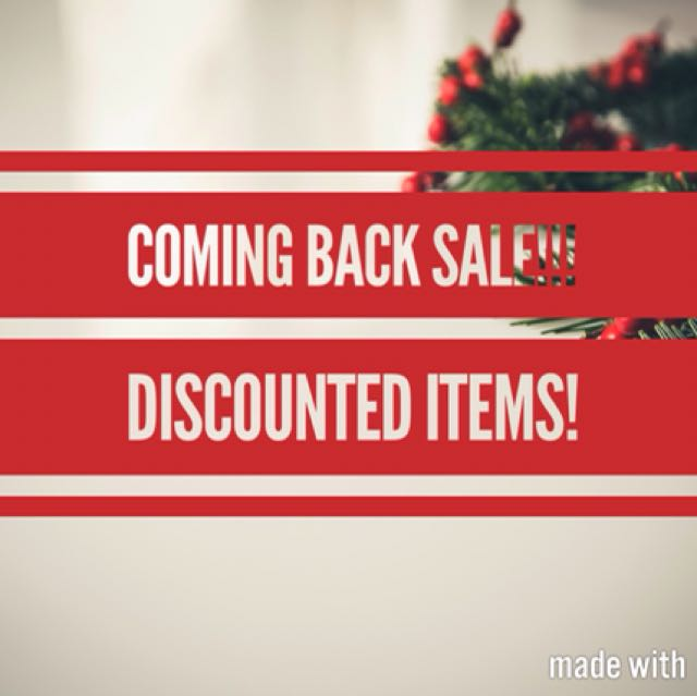 DISCOUNTED ITEMS! MARK DOWN SALE! CLEARANCE SALE!