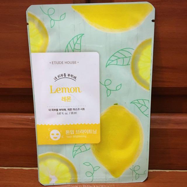 Etude House Lemon Sheet Mask