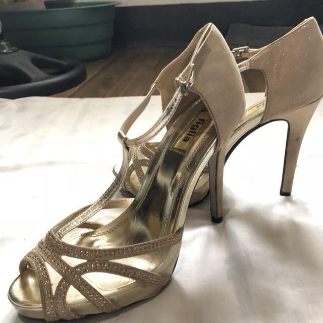 Figlia Gold Heels