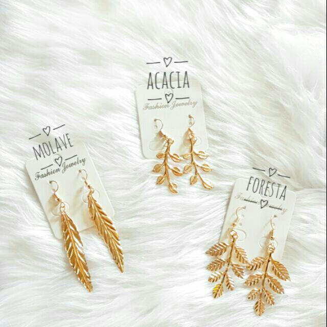 Gold Drop Leaf Earring