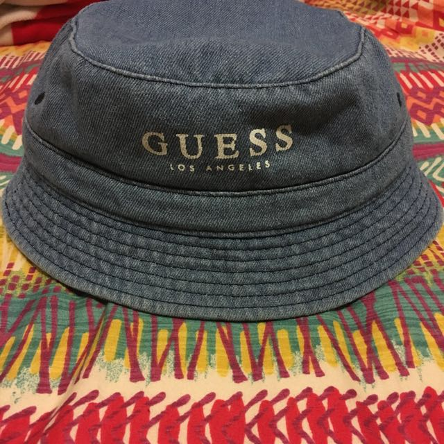 GUESS 淺牛仔漁夫帽 牛仔 帽子