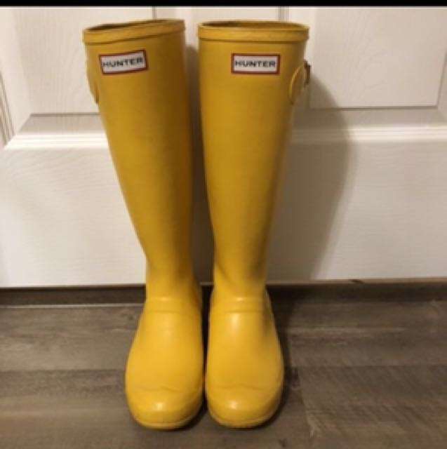 Hunter rain boots - yellow