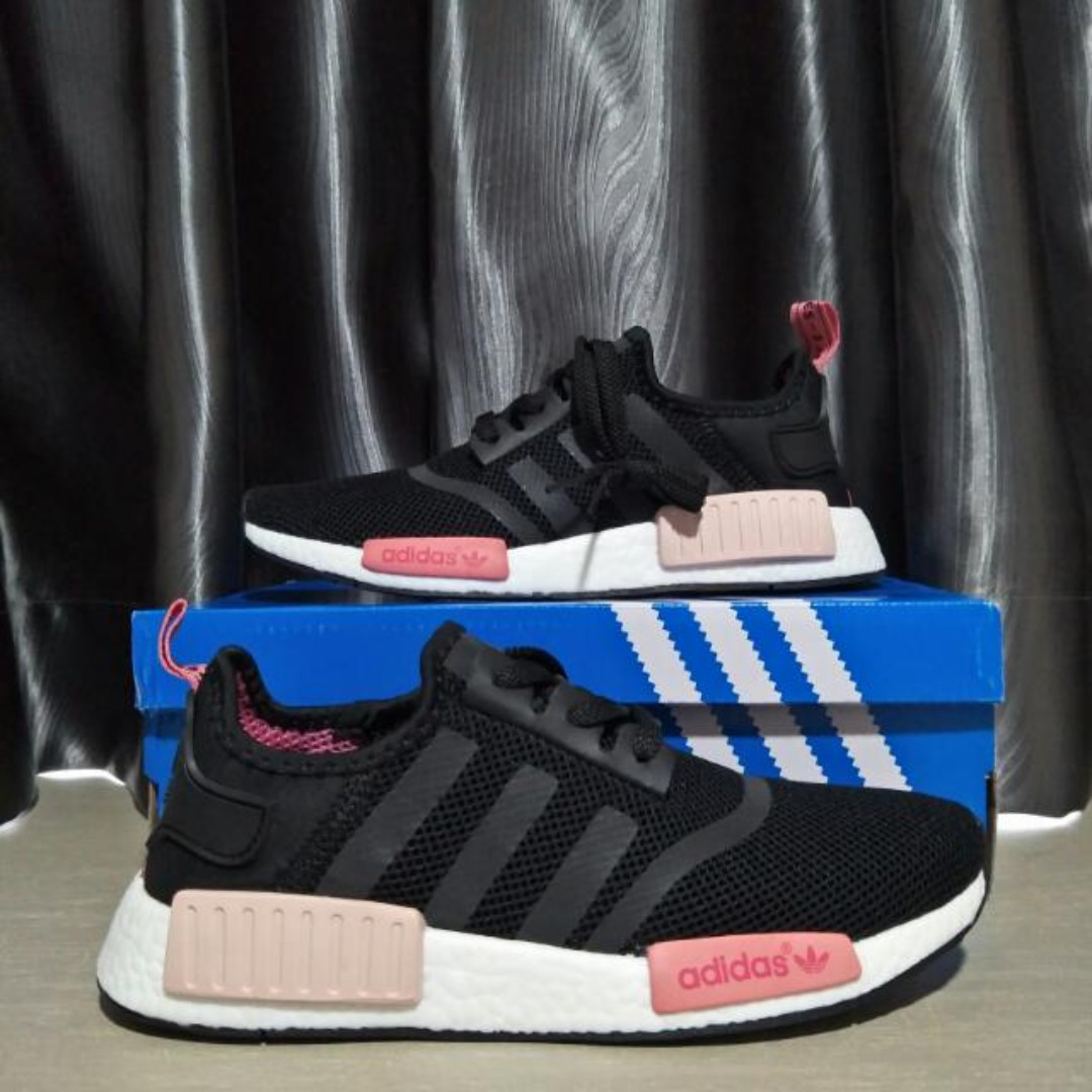 62f7e719827a4 Instock  Adidas NMD R1 Core Black Peach Pink