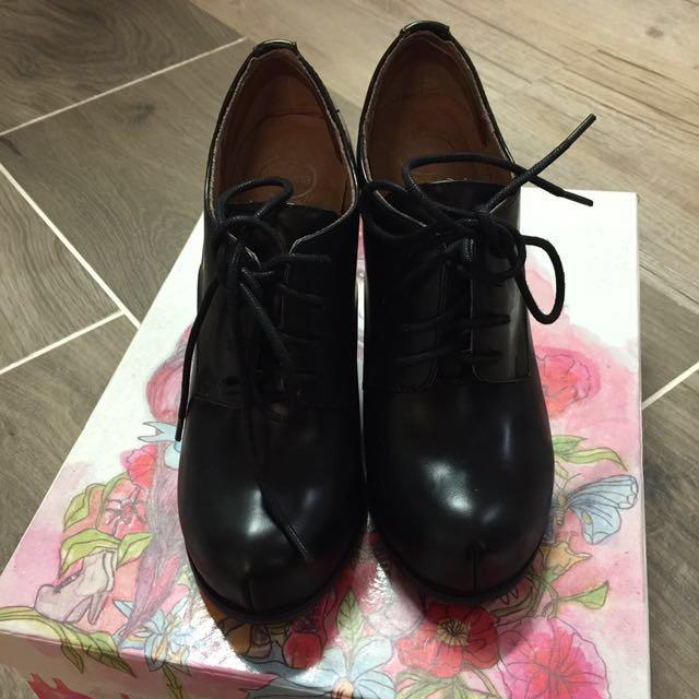 Jeffrey Campbell clear block heels