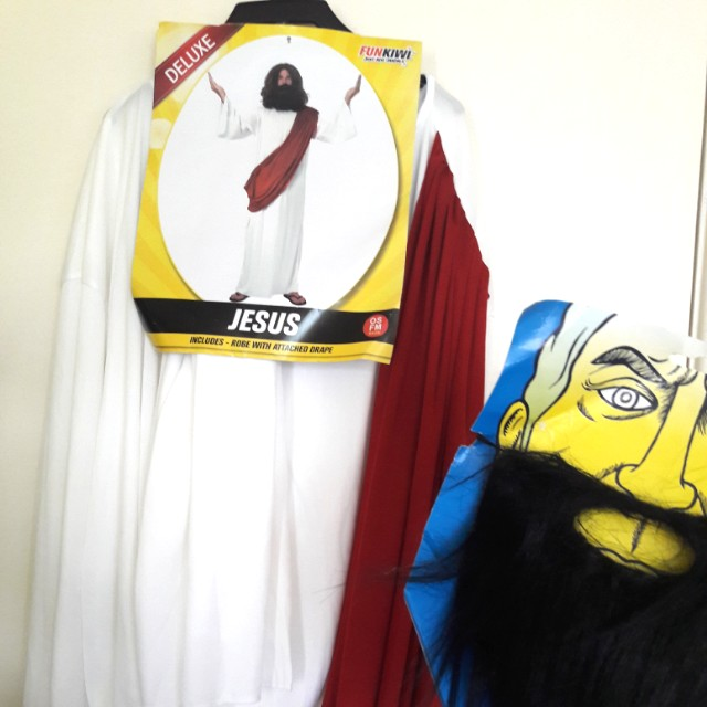 JESUS COSTUME WITH BEARD AND ROBE