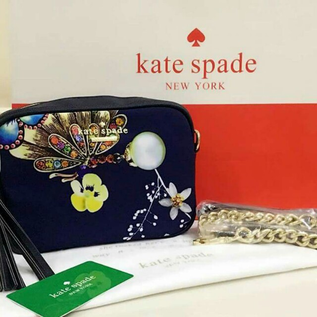 Kate Spade Sling Bag with Gold Chain