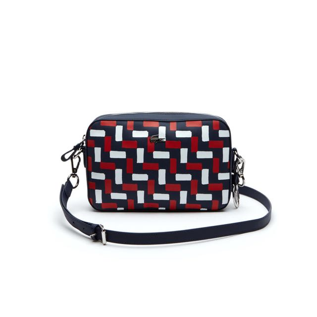 Lacoste Red White Braid Crossover Bag