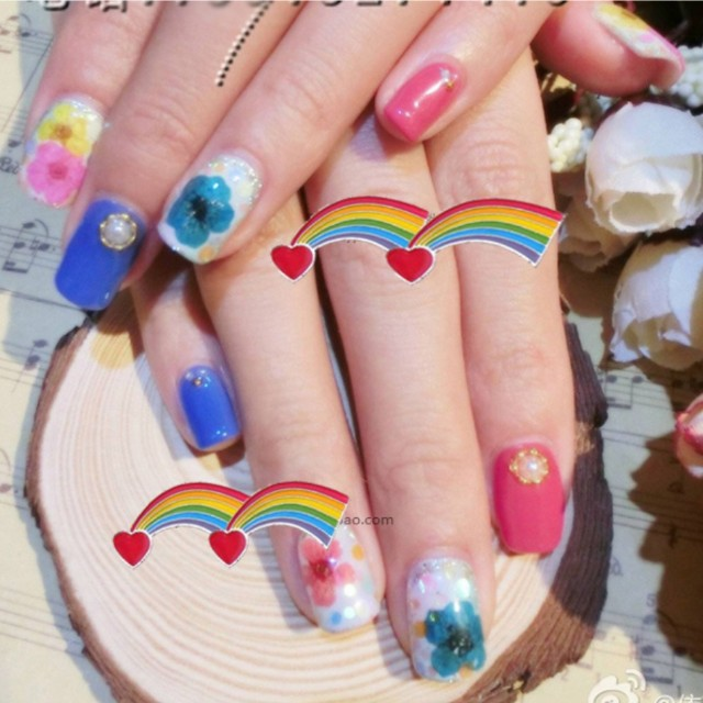 Latest Japan Decal 3d Self Adhesive Simulation Dried Flower Nail Art